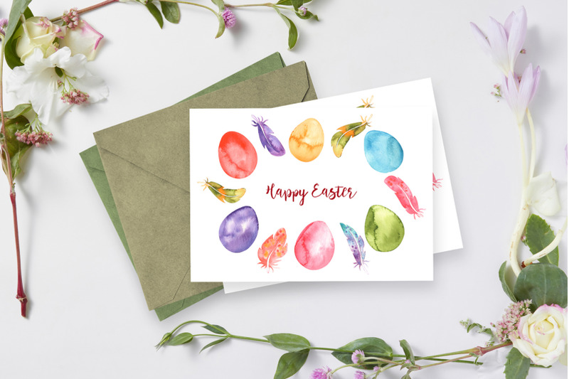 watercolor-eggs-and-feathers-set