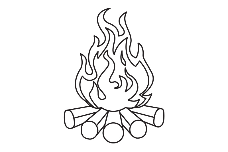 camping-bonfire-outline-icon