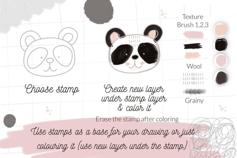 cute-animals-procreate-stamps-creator