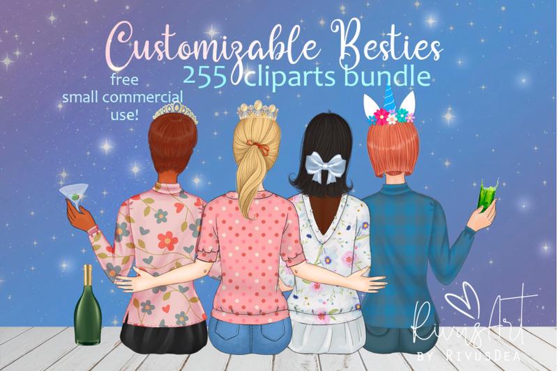 spring-besties-best-friends-customizable-clipart-spring-bff-custom