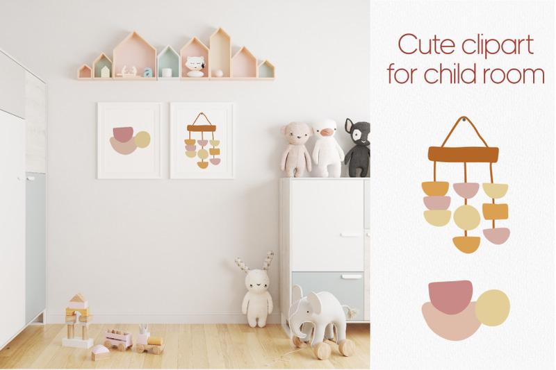 cute-boho-clipart-for-kids-nursery