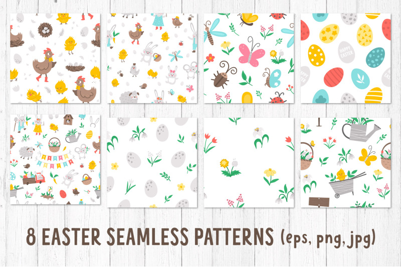 easter-clipart-characters-patterns