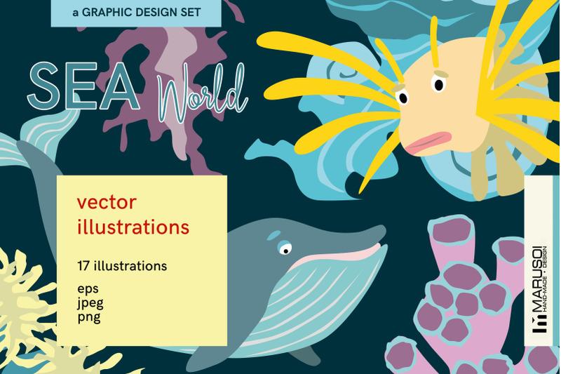 sea-world-vector-illustrations