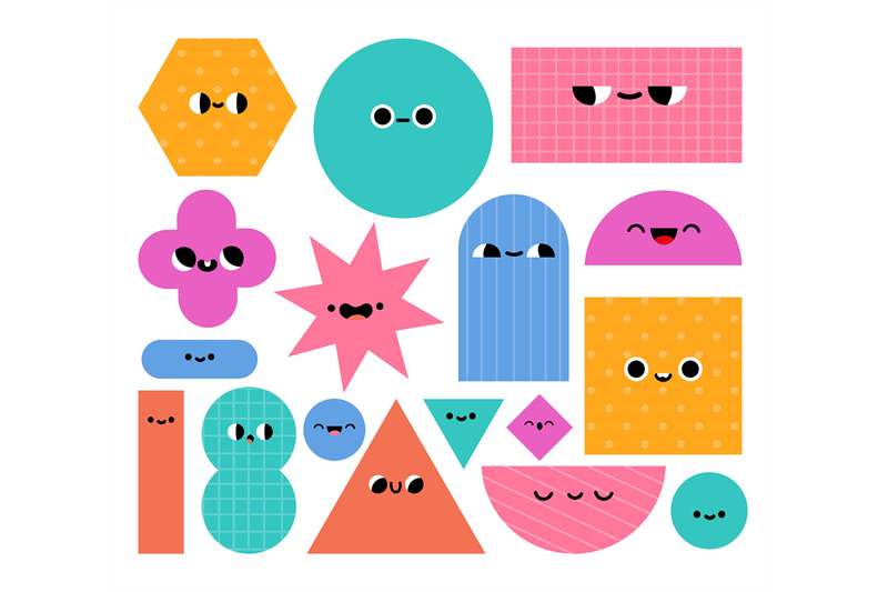 geometric-shapes-characters-basic-abstract-geometry-figures-with-cart