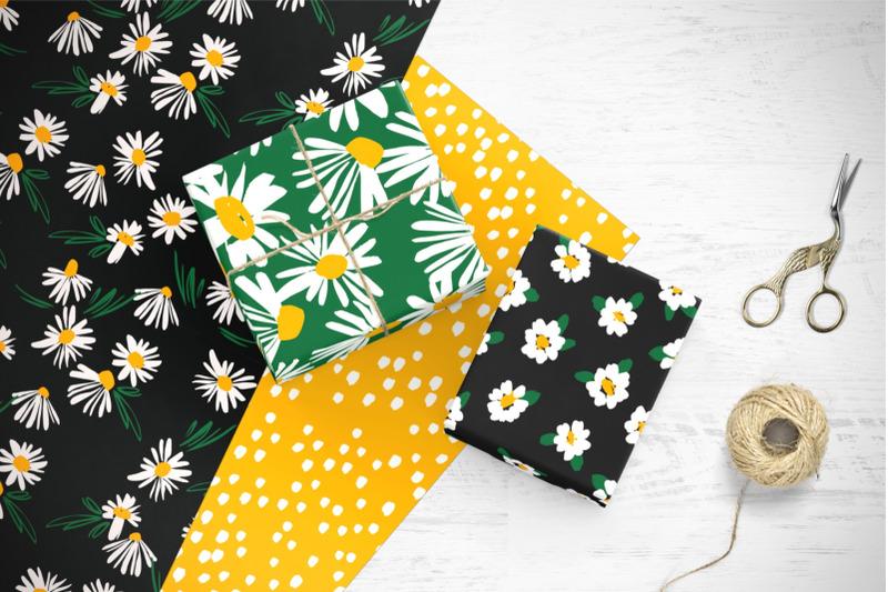 chamomile-10-seamless-patterns
