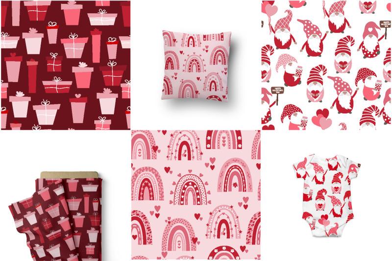 valentine-039-s-day-seamless-pattern-set