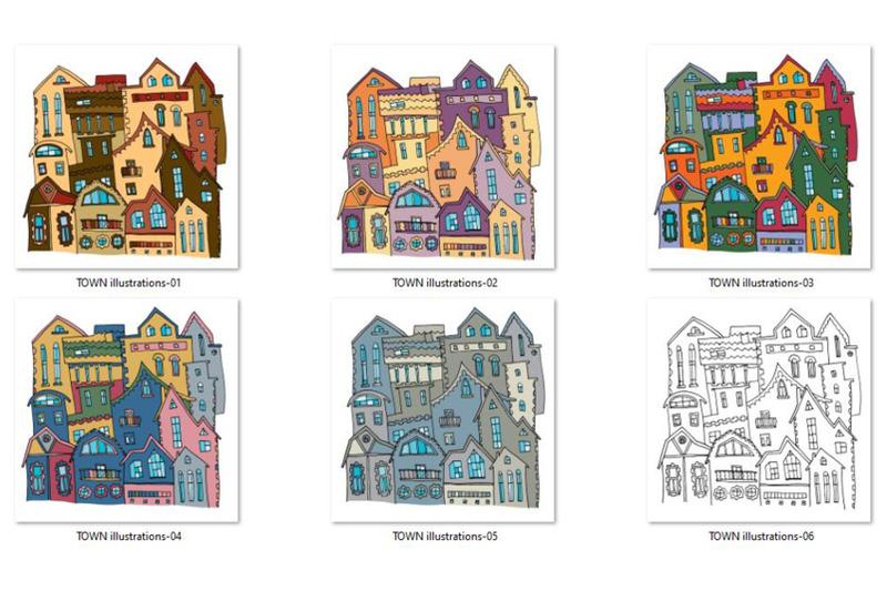 town-illustrations