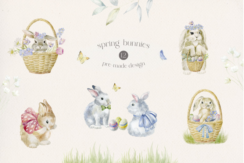 spring-bunnies-easter-time