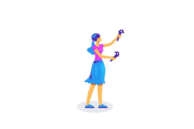 woman-with-vr-equipment-flat-color-vector-faceless-character
