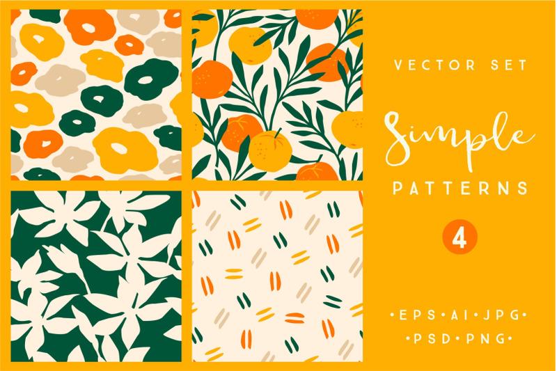 simple-patterns-vector-set-of-4-prints