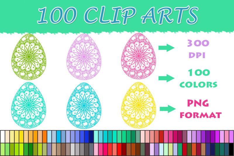 easter-eggs-mandala-clipart-100-colors-clipart