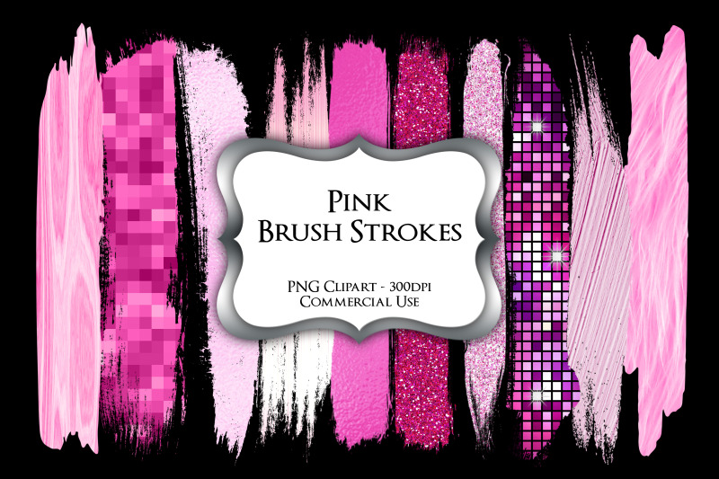 pink-brush-strokes-png-clipart