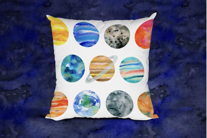 watercolor-solar-system