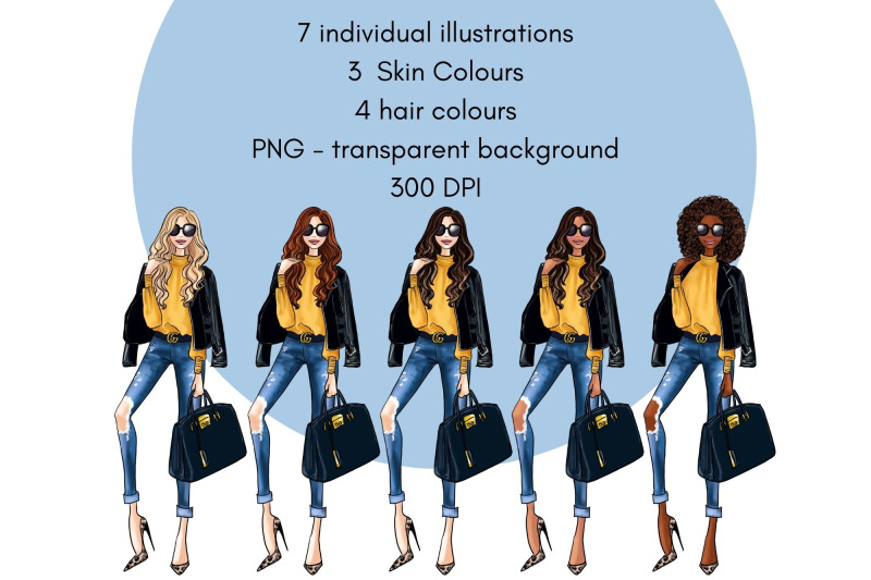 girls-in-ripped-jeans-watercolour-fashion-illustration