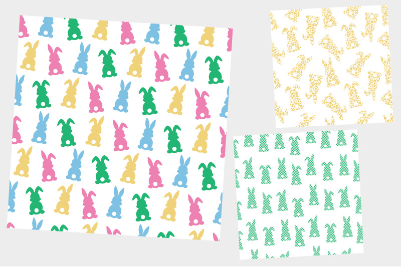 easter-bunny-silhouettes-pattern-plaid-bunnies-pattern