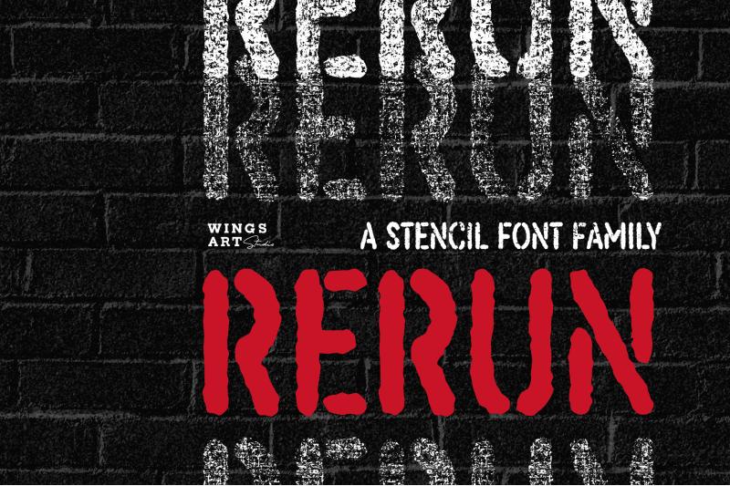 rerun-a-stencil-font-family