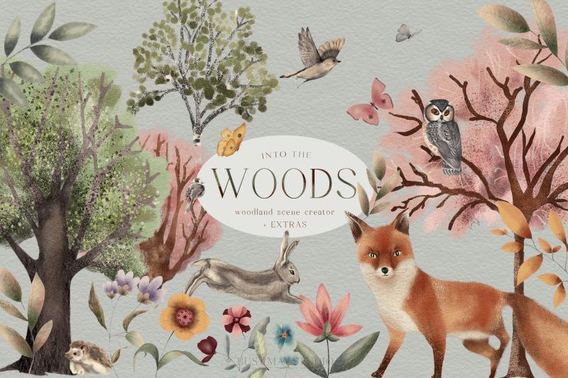 woodland-scene-creator-animals-trees-butterflies-backgrounds