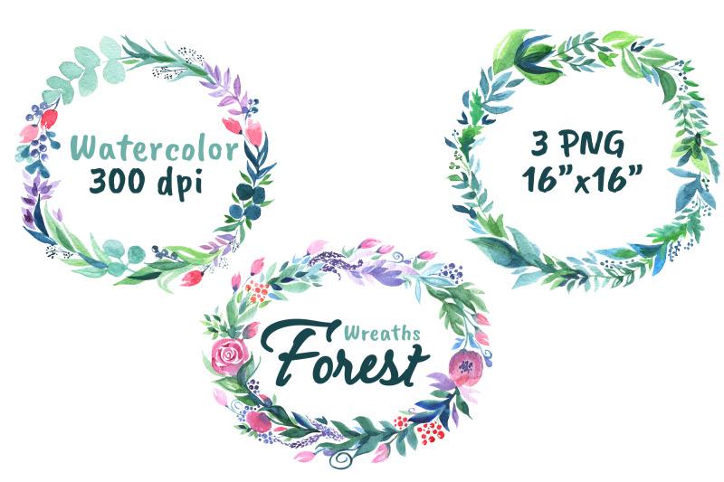 wildflower-wreath-watercolor-rustic-flowers