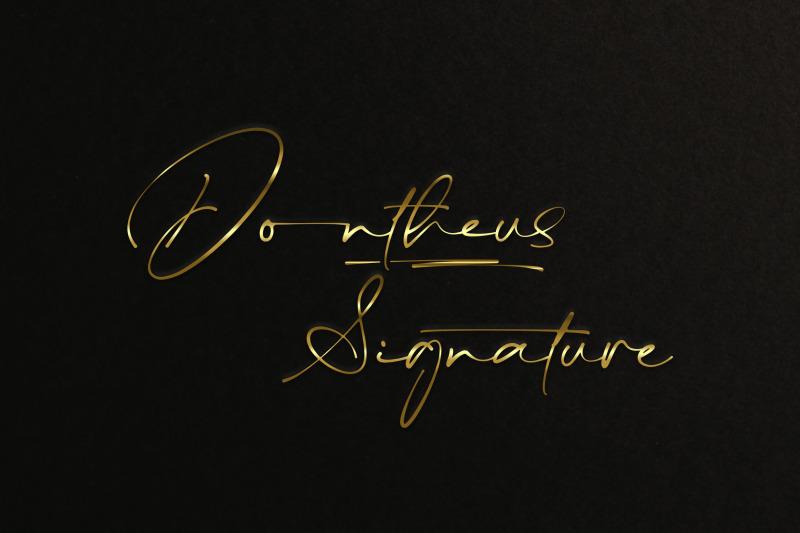dontheus-signature-font