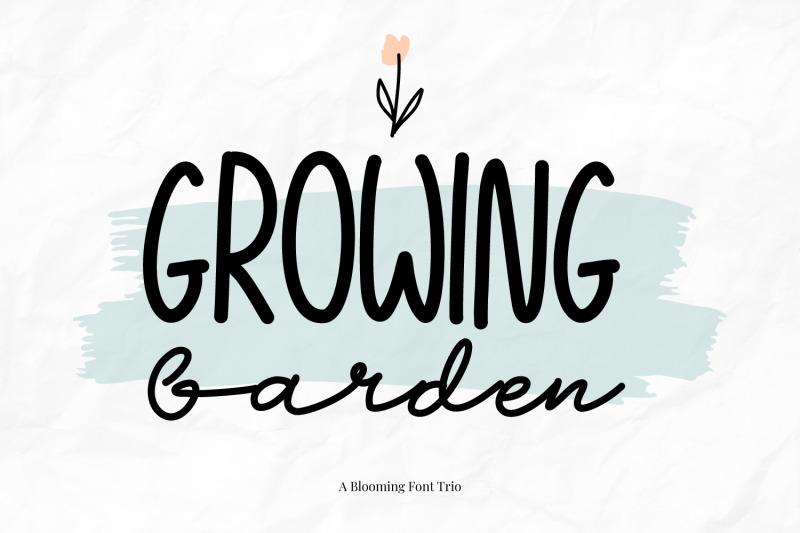 growing-garden-handwritten-font-trio