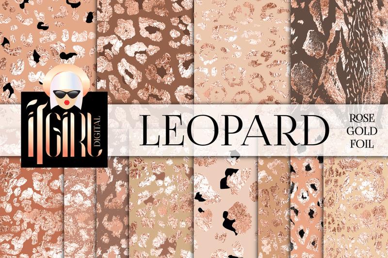 rose-gold-foil-leopard-pattern