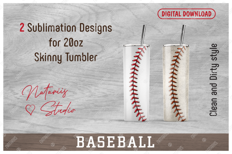 2-realistic-baseball-patterns-for-20oz-skinny-tumbler