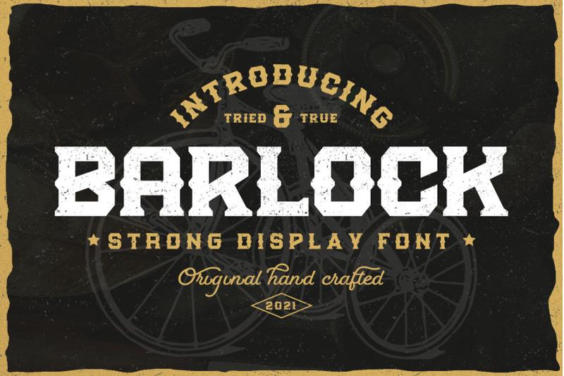 barlock-strong-display-font