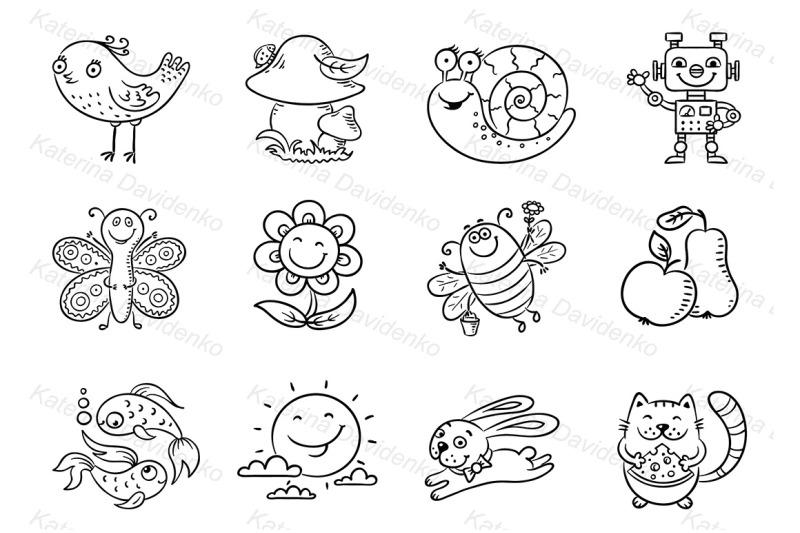 set-of-cartoon-elements-for-kids-designs