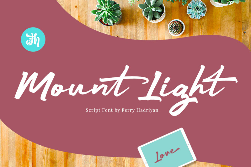 mount-light-script-font