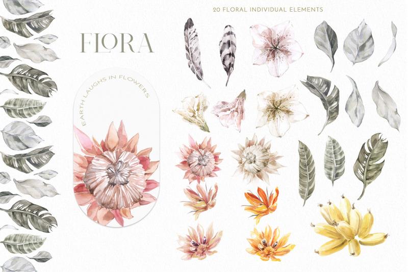 boho-tropical-floral-banana-clipart