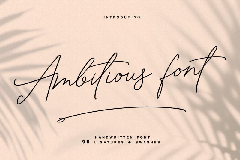 ambitious-handwritten-font