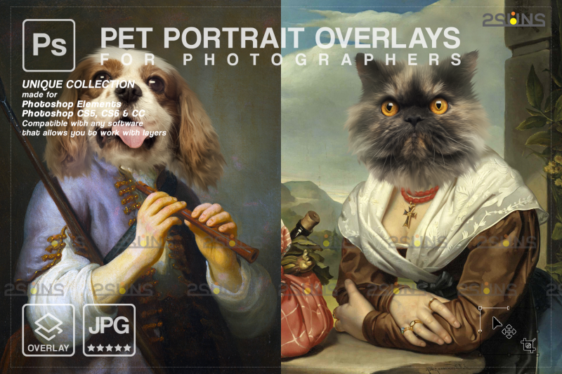 royal-pet-portrait-templates-vol-16-digital-pet-art-pet-painting