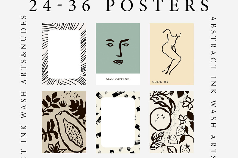 abstract-ink-wash-floral-posters