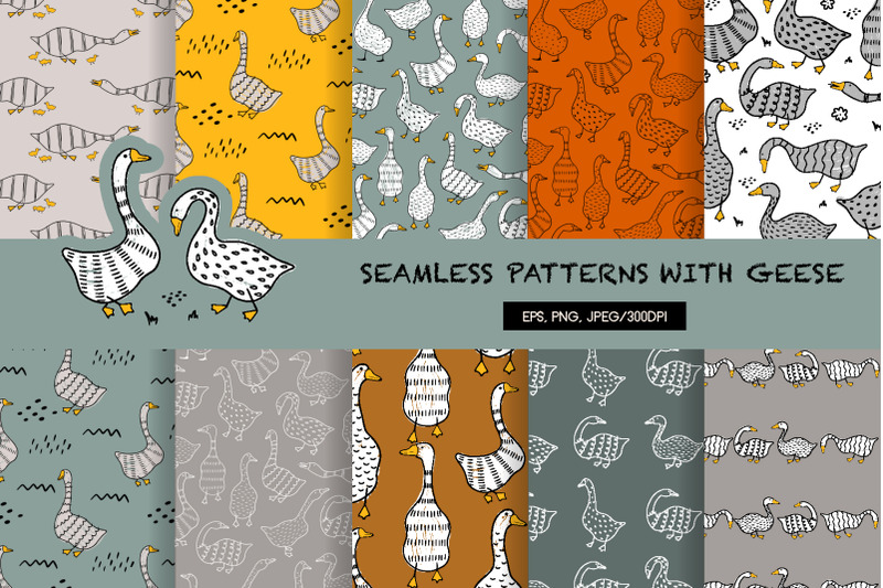 seamless-patterns-with-geese