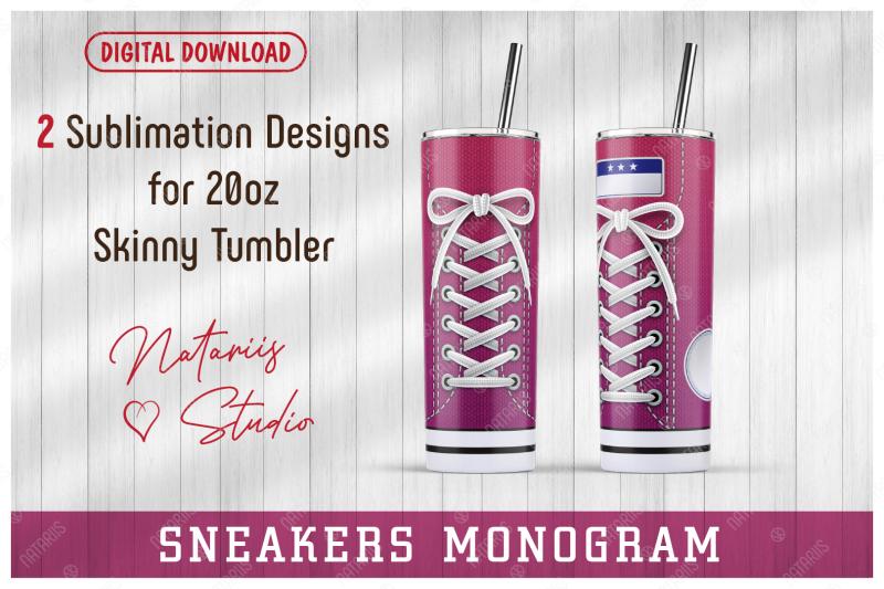 2-sneaker-shoe-patterns-for-20oz-skinny-tumbler