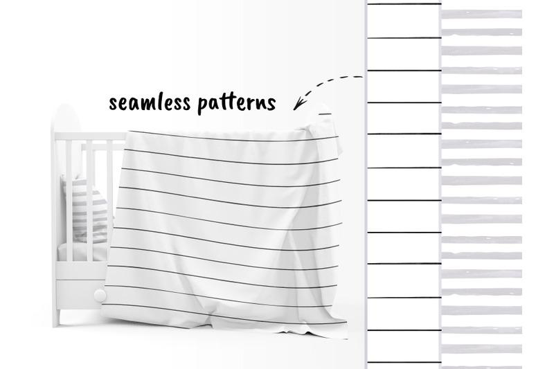watercolor-horizontal-stripes-digital