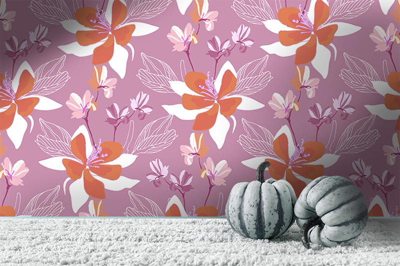flowers-on-a-purple-background