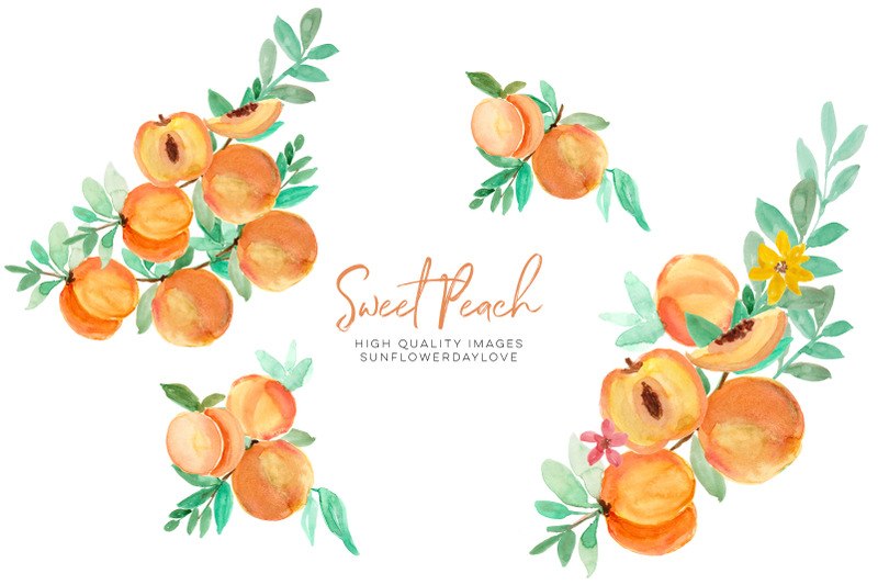 summer-peaches-clipart-greenery-peaches-peach-fruit-clip-art-diy