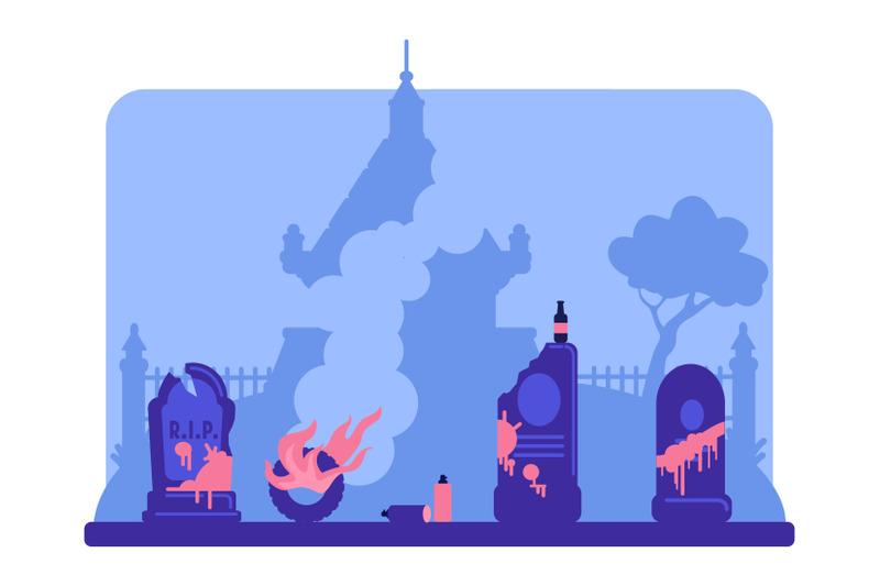 vandalism-flat-color-vector-illustration