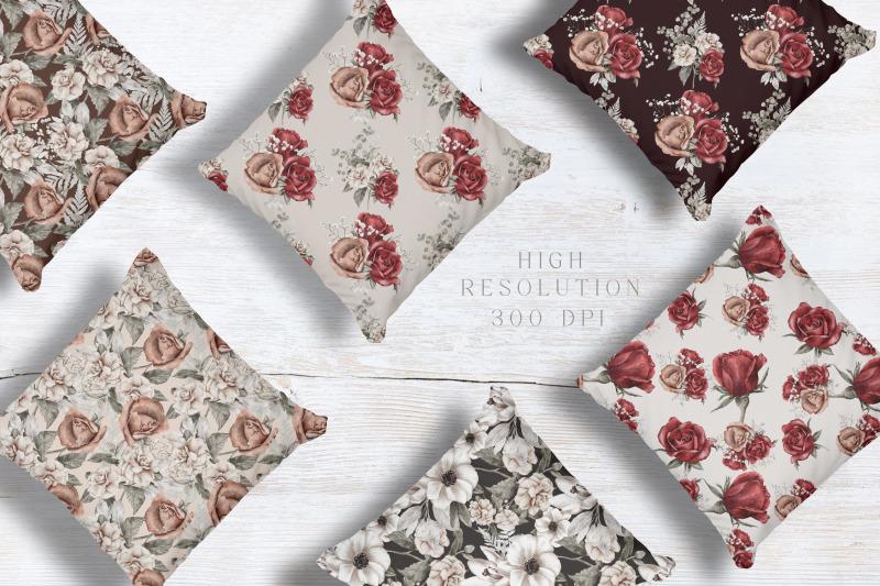watercolor-floral-seamless-patterns-digital-papers-jpeg