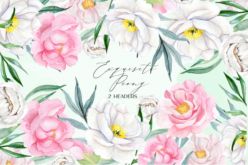 exquisite-peony-watercolor-flowers