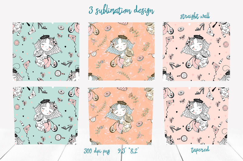 skinny-tumbler-png-girl-and-pug-dog-clipart-sublimation