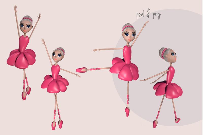 ballet-girl-3d-illustrations