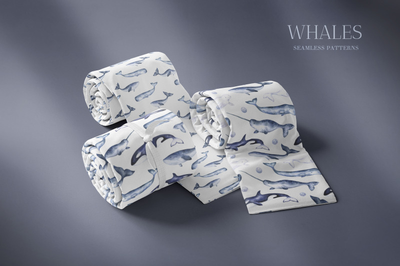 whales-watercolor-collection-of-illustrations-and-seamless-patterns