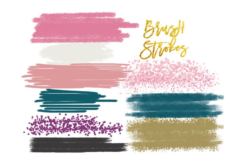 Digital Watercolor Brush Strokes Acrylic Brush Digital