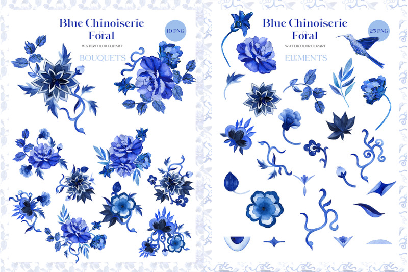 blue-chinoiserie-floral-watercolor-clipart