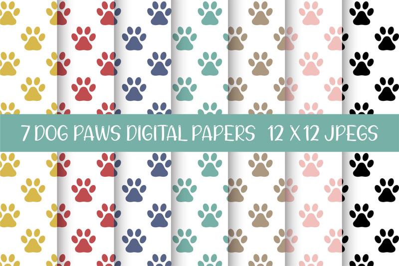 dog-paws-seamless-patterns