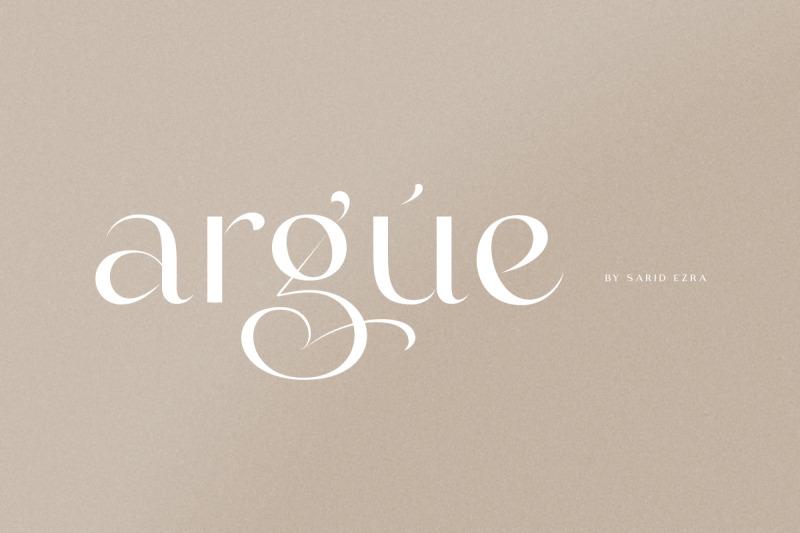 argue-stylish-font