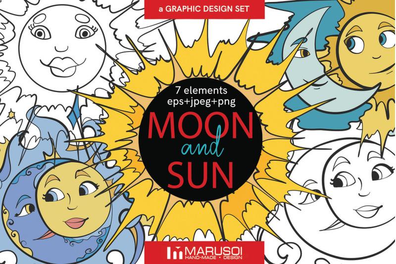 moon-and-sun-vector