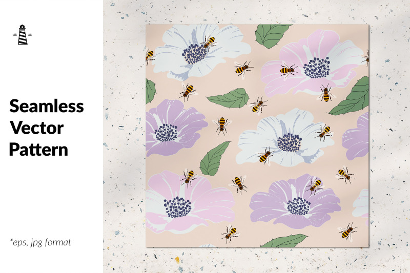 busy-bees-and-flowers-patten